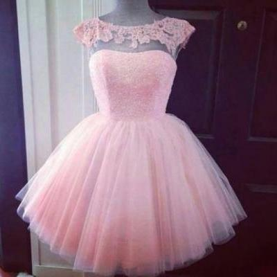 Custom Made A Line Short Pink Prom Dresses, Graduation Dresses, Formal Dresses, Bridesmaid Dresses, Homecoming Dresses, Pink Homecoming Dress