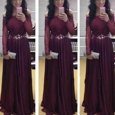 Long Sleeve Prom dresses, Prom dresses 2016, Lace Prom Dress, Long Sleeves Prom Dresses, Long Sleeves Evening Dresses