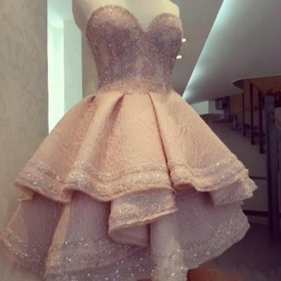 Pink Homecoming Dress,Lovely Homecoming Dressm,Wedding Party Dress,Homecoming Dresses