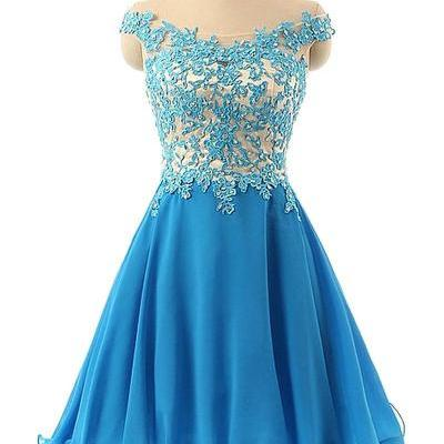 Elegant Lace Homecoming Dress,Appliques Homecoming Dresses,Off-the-Shoulder Homecoming Dress