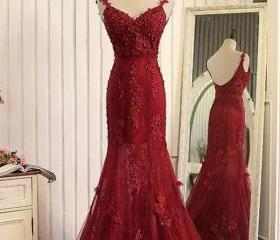 Red organza lace app..