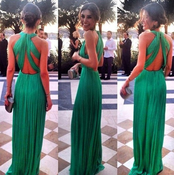 1f964772b52 Custom Made Long Green Prom Dresses