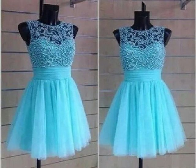 Custom Made A Line Round Neck Short Prom Dresses, Short Homecoming ...