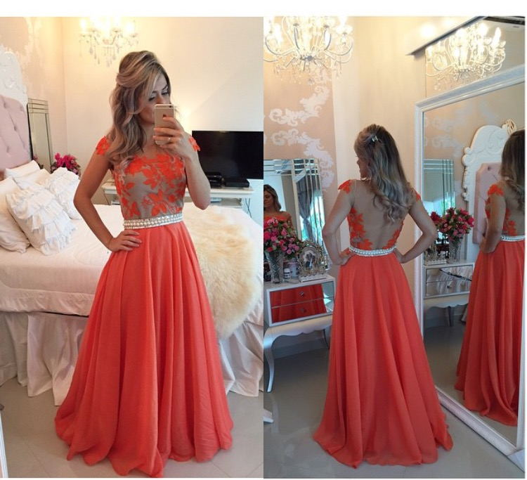 Red Lace Prom Dress, Backless Prom Dress, Backless Evening Dress ...