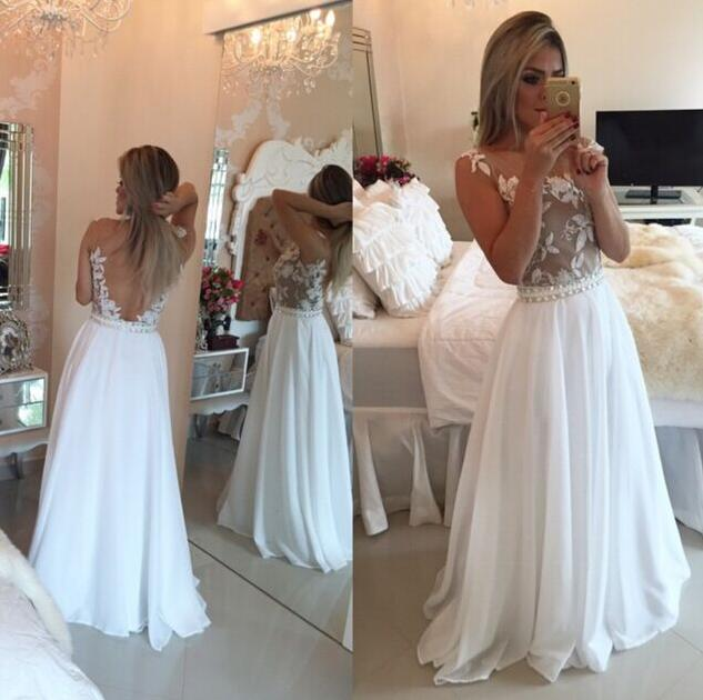 Bckless White Party Dresses