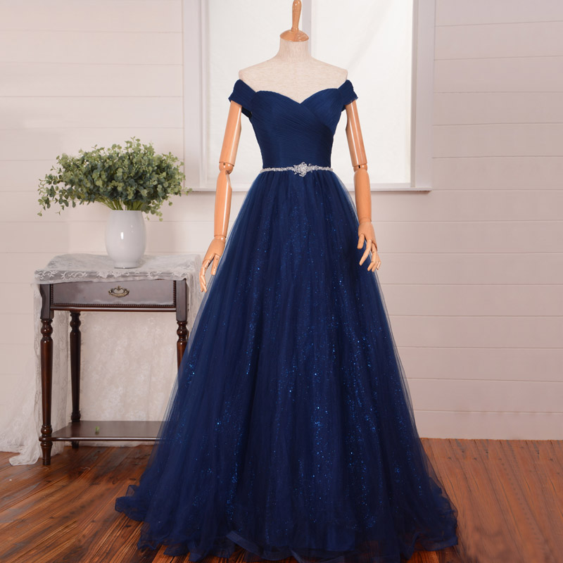 797c7a63ee Off Shoulder Chiffon Prom Dress