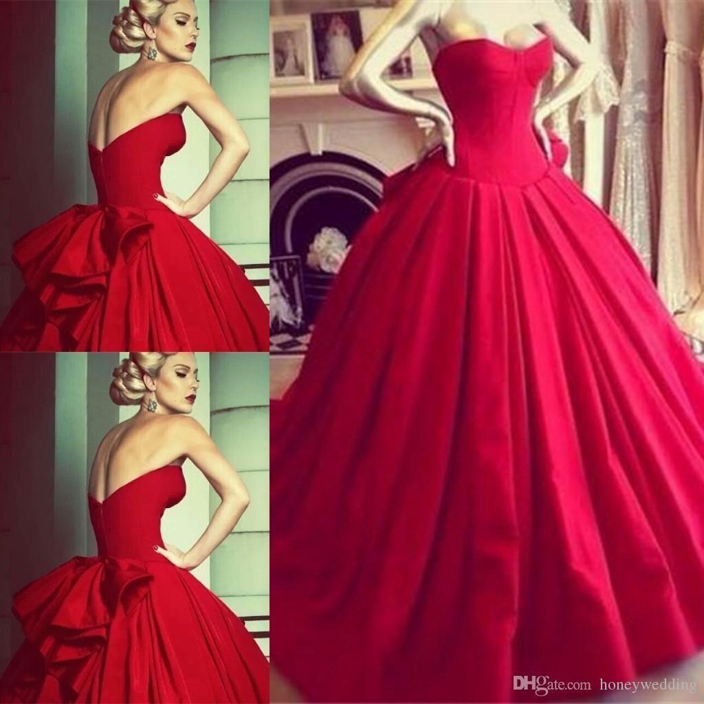 Vintage Red Prom Dress,A-Line Prom Dresses,Evening Dress