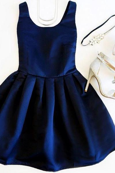 Navy Blue Short Homecoming Dress, Simple Sexy Homecoming Dress