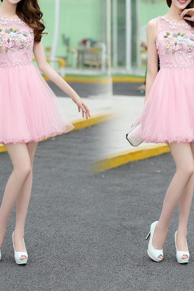 Pink Appliques Homecoming Dress, Strapless Short Homecoming Dress