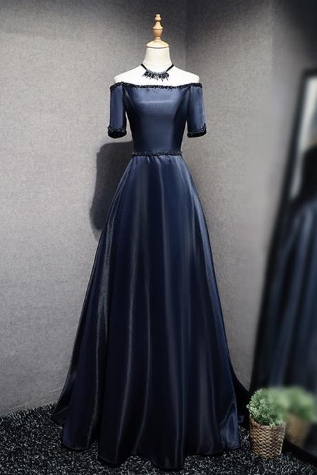 Elegant Short Sleeve Velvet Prom Dresses Off Shoulder Evening Dresses
