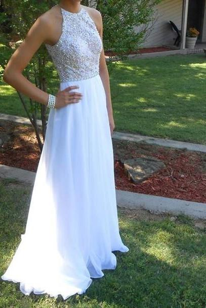 Charming Prom Dress,Chiffon Prom Dress,Beading Prom Dress,A-Line Prom Dress,Floor-Length Prom Dress