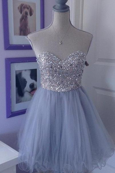 Sweetheart Homecoming Dress,Sparkly Party Dress,Popular Homecoming Gowns