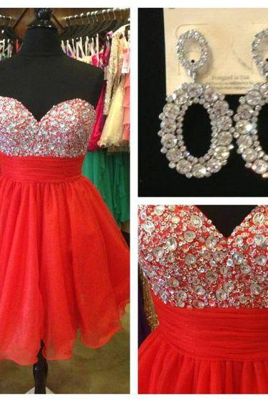 Red Homecoming Dress,Sexy Homecoming Dress,Wedding Party Dress,Homecoming Dress