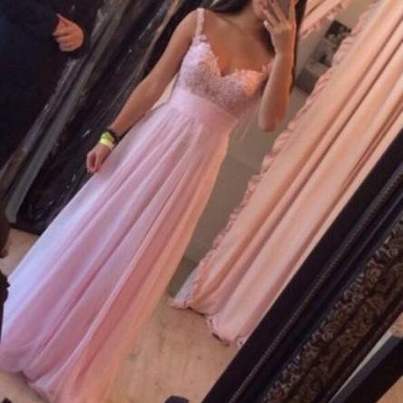 Custom Made Pink Sweetheart Neck Long Prom Dresses, Dresses for prom, Pink Long Evening Dresses, Pink Homecoming Dress, Pink Prom Dress, Pink Long Formal Dresses