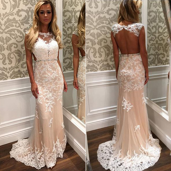 4102693a858c Sleeveless Lace Prom Dress,Backless Long Prom Dresses,Evening Dress on  Luulla